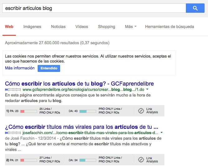 escribir articulos blog