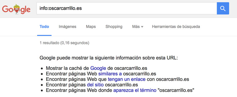 funcion info google
