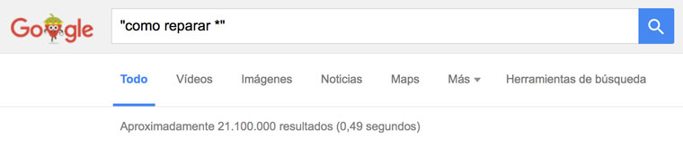 operador busqueda google