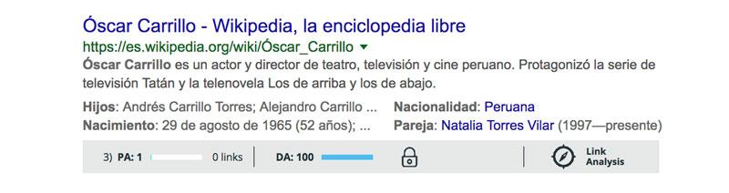 su nombre en wikipedia